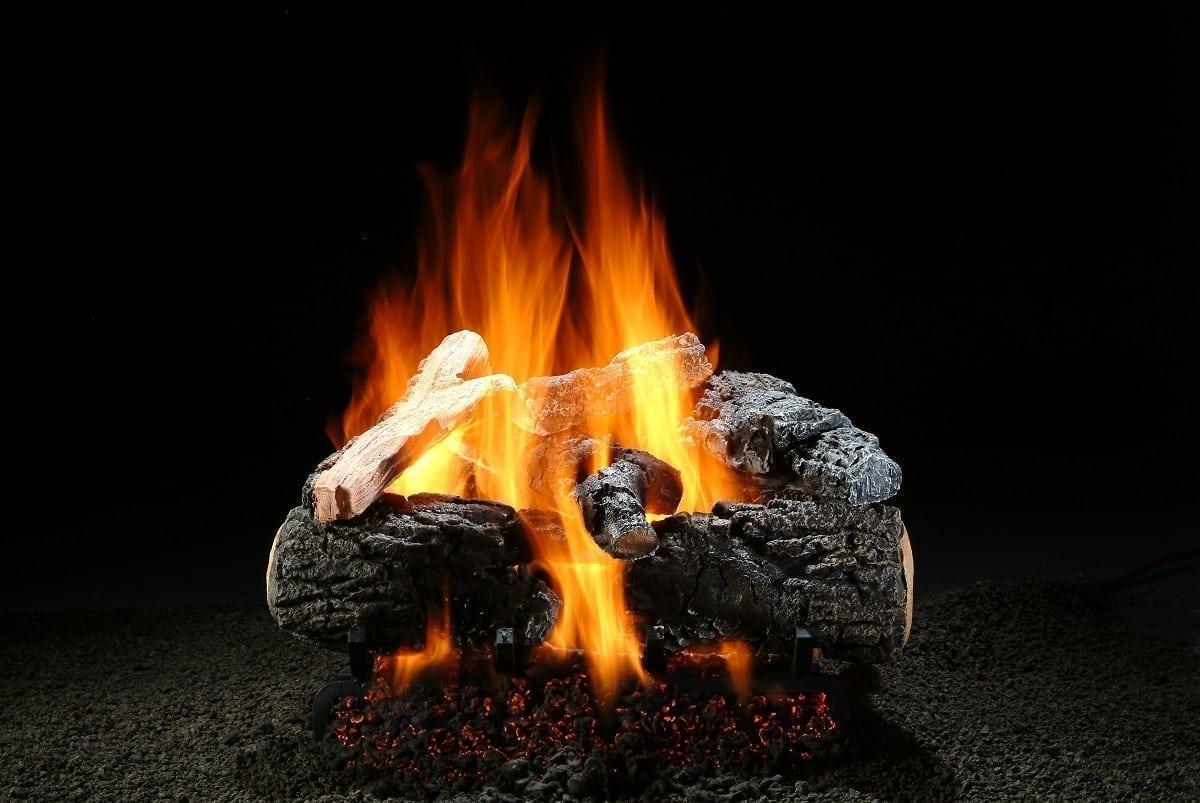 Magnificent Inferno Log Set with Burner