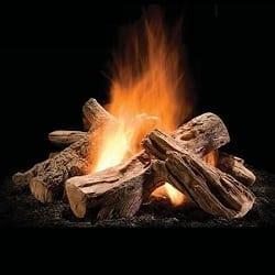 """Wilderness Split Outdoor Gas Fire Pit Logs - 30"""""""